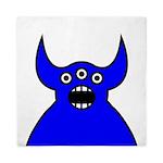 Kawaii Blue Alien Monster Queen Duvet