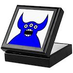 Kawaii Blue Alien Monster Keepsake Box