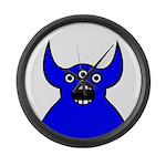 Kawaii Blue Alien Monster Large Wall Clock