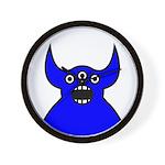 Kawaii Blue Alien Monster Wall Clock