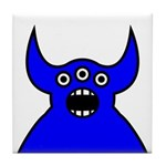 Kawaii Blue Alien Monster Tile Coaster