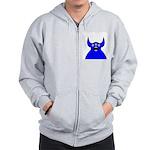 Kawaii Blue Alien Monster Zip Hoodie