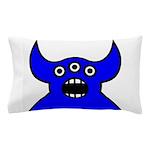 Kawaii Blue Alien Monster Pillow Case