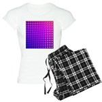 Purple Retro Squares Pattern Women's Light Pajamas