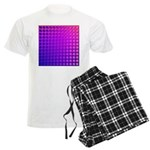 Purple Retro Squares Pattern Men's Light Pajamas