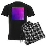 Purple Retro Squares Pattern Men's Dark Pajamas