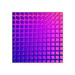 Purple Retro Squares Pattern Square Sticker 3