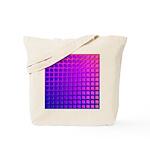 Purple Retro Squares Pattern Tote Bag