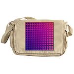 Purple Retro Squares Pattern Messenger Bag