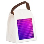 Purple Retro Squares Pattern Canvas Lunch Bag