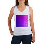 Purple Retro Squares Pattern Women's Tank Top