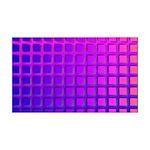 Purple Retro Squares Pattern 35x21 Wall Decal