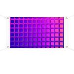 Purple Retro Squares Pattern Banner