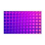Purple Retro Squares Pattern 20x12 Wall Decal