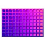 Purple Retro Squares Pattern Large Poster