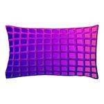 Purple Retro Squares Pattern Pillow Case