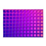 Purple Retro Squares Pattern 5'x7'Area Rug