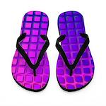 Purple Retro Squares Pattern Flip Flops