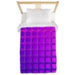 Purple Retro Squares Pattern Twin Duvet