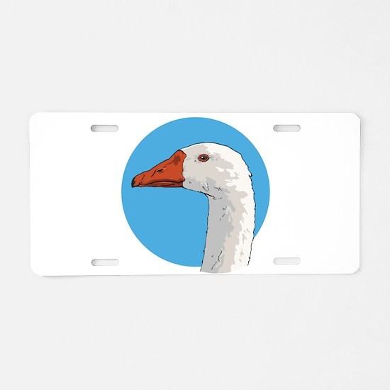 Portrait of a Goose Aluminum License Plate