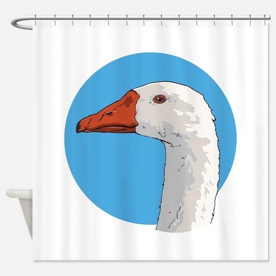 Portrait of a Goose Shower Curtain