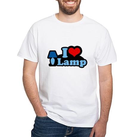 I heart lamp - White T-shirt