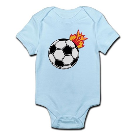 Soccer Ball With Flames Infant Bodysuit