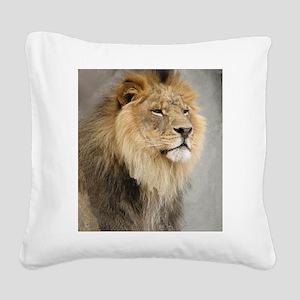 Lion Lovers Square Canvas Pillow