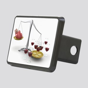 Red wine and heart disease, artwork - Hitch Cover