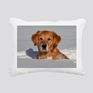 Golden Retriever 2 Rectangular Canvas Pillow