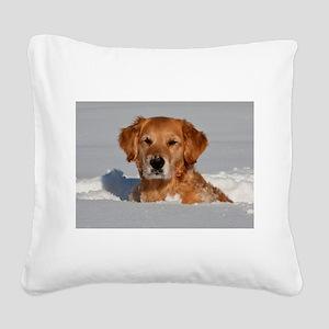 Golden Retriever 2 Square Canvas Pillow