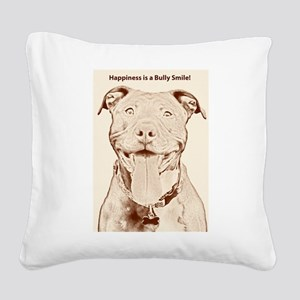 Pit Bull 15 Square Canvas Pillow