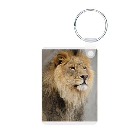 Lion Lovers Aluminum Photo Keychain