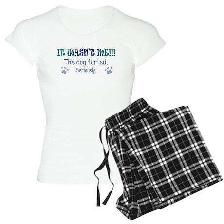 the dog farted Women's Light Pajamas