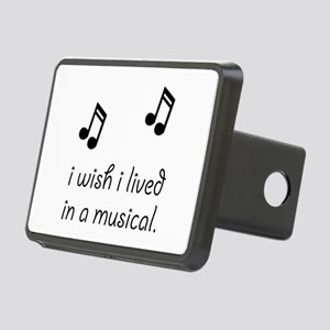 Live In Musical Rectangular Hitch Cover