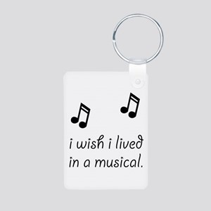 Live In Musical Aluminum Photo Keychain