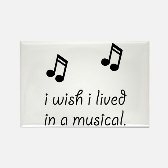 Live In Musical Rectangle Magnet (10 pack)