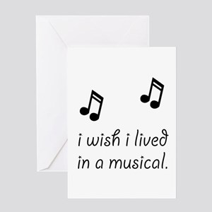 Live In Musical Greeting Card
