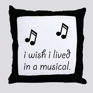 Live In Musical Throw Pillow
