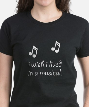 Live In Musical Women's Dark T-Shirt