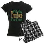 Will Play Trombone Women's Dark Pajamas