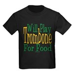 Will Play Trombone Kids Dark T-Shirt