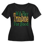 Will Play Trombone Women's Plus Size Scoop Neck Da