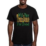 Will Play Trombone Men's Fitted T-Shirt (dark)