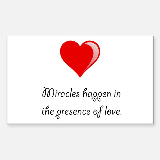 Miracles Love Sticker (Rectangle 10 pk)