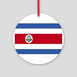 Flag of Costa Rica Ornament (Round)