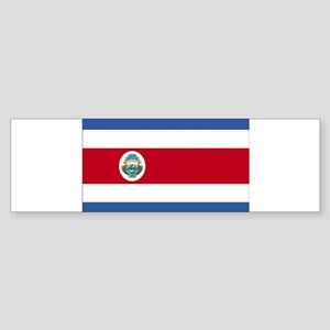 Flag of Costa Rica Sticker (Bumper)
