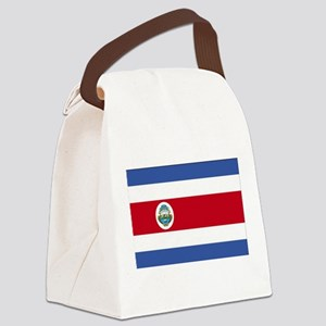 Flag of Costa Rica Canvas Lunch Bag
