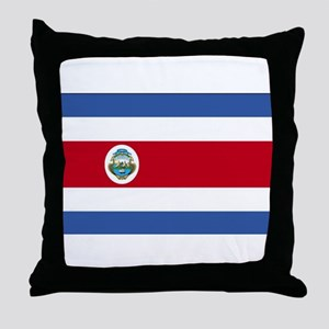 Flag of Costa Rica Throw Pillow