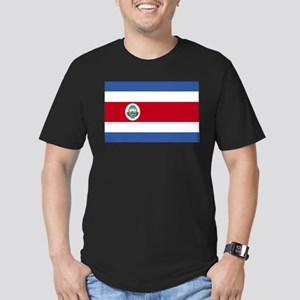 Flag of Costa Rica Men's Fitted T-Shirt (dark)